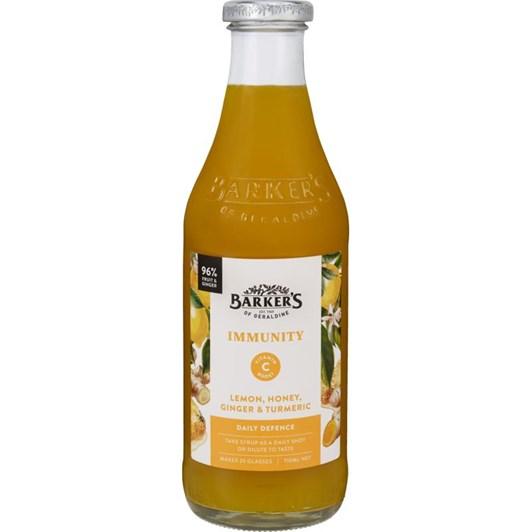 Barkers Immunity Lemon, Honey & Turmeric Syrup 710ml