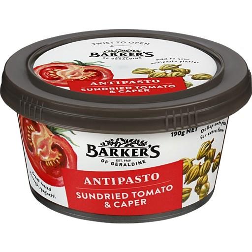 Barkers Sundried Tomato & Caper Antipasto 190g