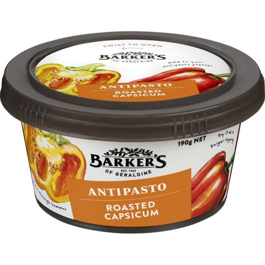 Barkers Roasted Capsicum Antipasto 190g