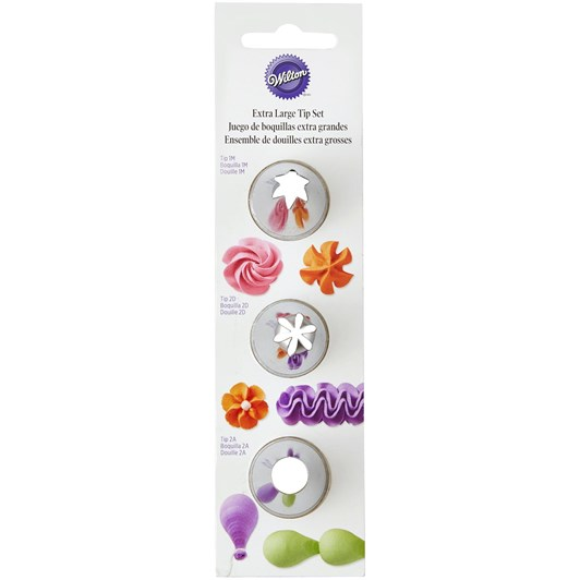 Wilton Carded Extra Large Tip Set