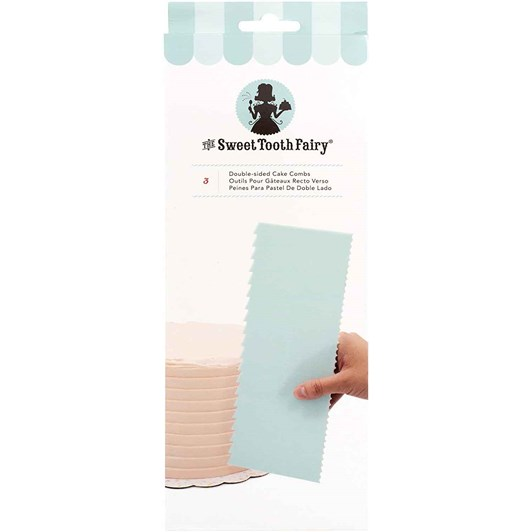 The Sweet Tooth Fairy Cake Comb Set 3Pc Double Sided