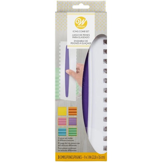 Wilton Cake Comb Set 3Pc Double Sided