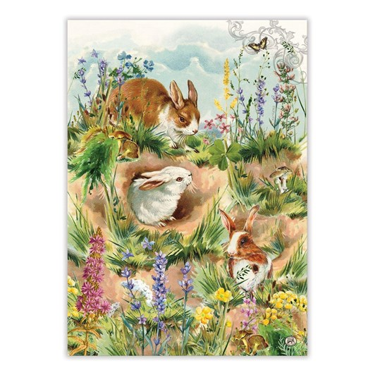 MDW Bunny Hollow Tea Towel