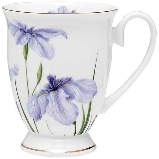 Ashdene Floral Symphony Iris Footed Mug