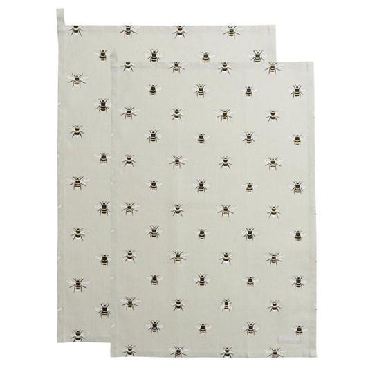 Sophie Allport Tea Towel - Bees - Set Of 2