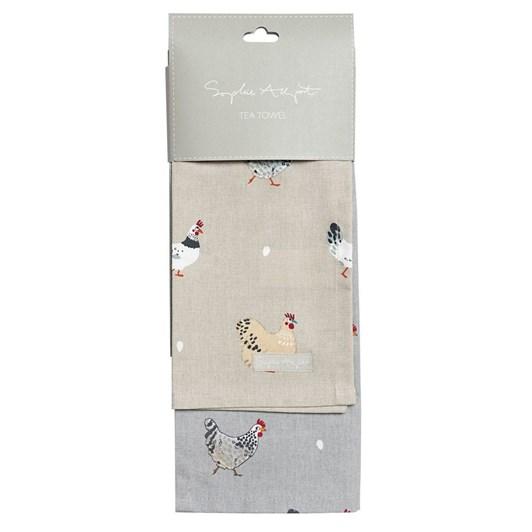 Sophie Allport Tea Towel - Set Of 2 - Chicken & Lay A Little Egg