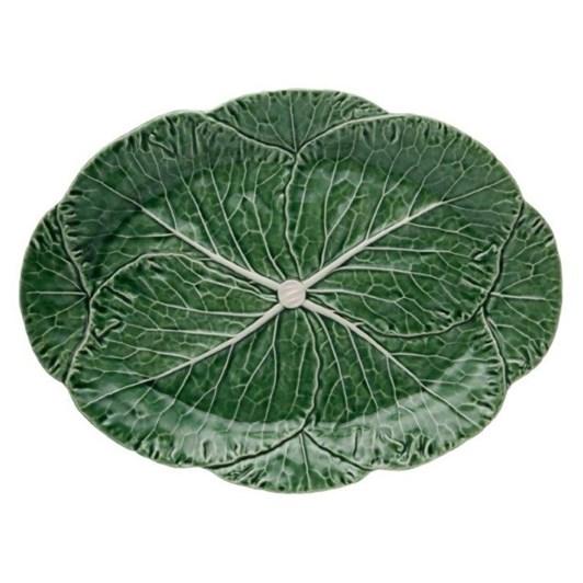 Bordallo Cabbage Oval Platter 43 Natural