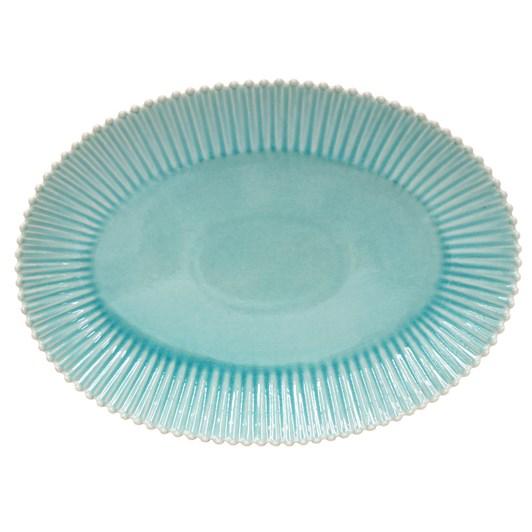 Pearl Oval Platter 50cm Aqua