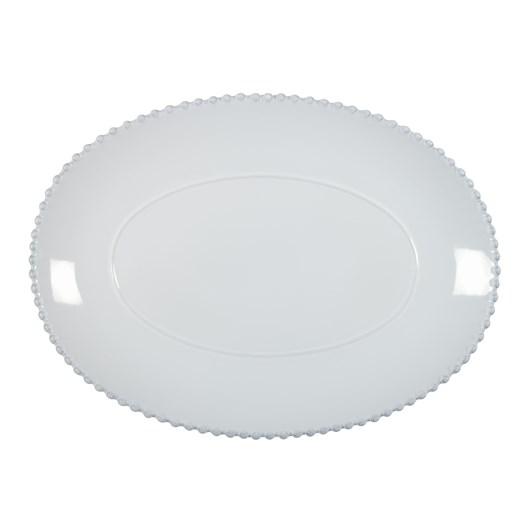 Pearl Oval Platter 40cm White