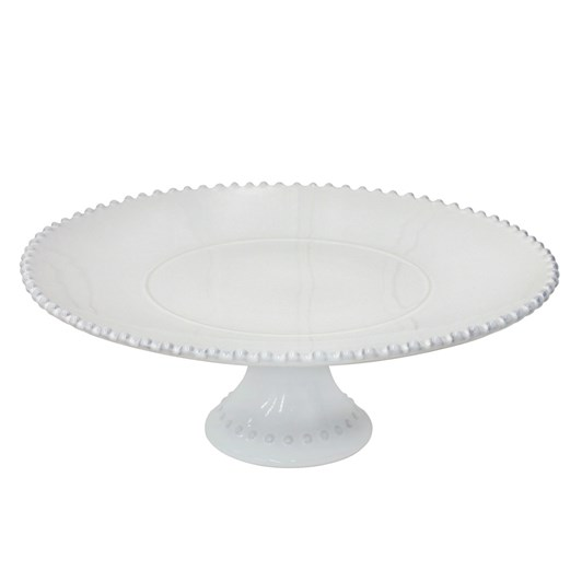 Pearl Cake Stand 34cm White