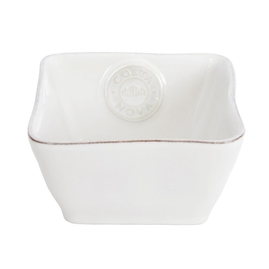 Costa Nova Square Bowl 12cm White