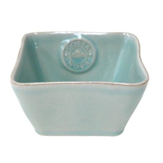 Costa Nova Square Bowl 12cm Turquoise
