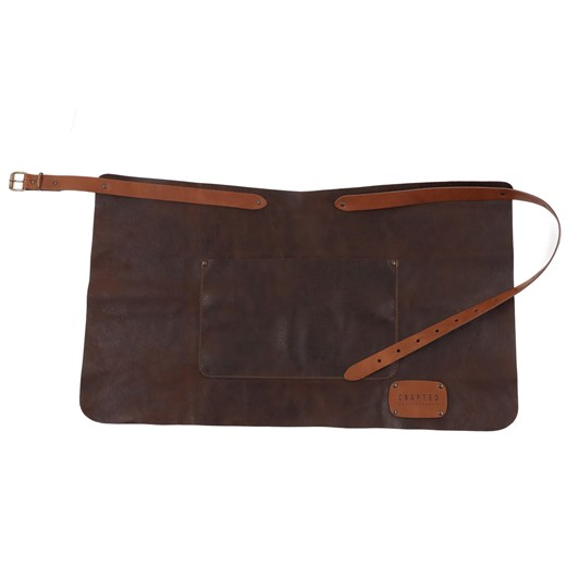 Crafted Leather Rustic Apron with Pocket