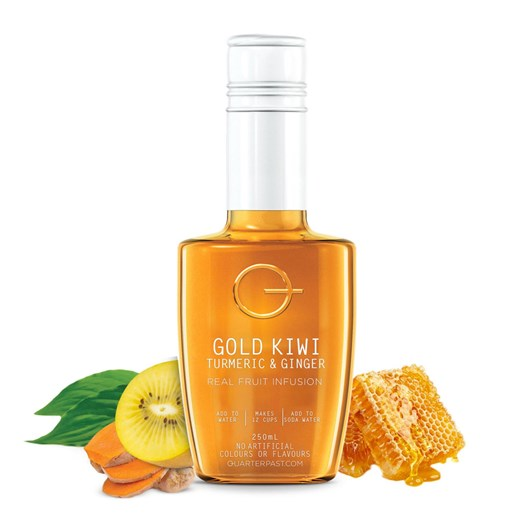 QuarterPast Gold Kiwi Turmeric & Lemon - 250ml