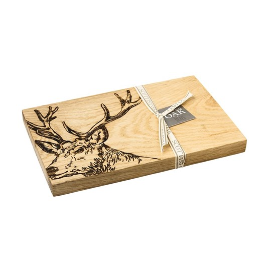 Just Slate Etched Stag Serving Board 30cm