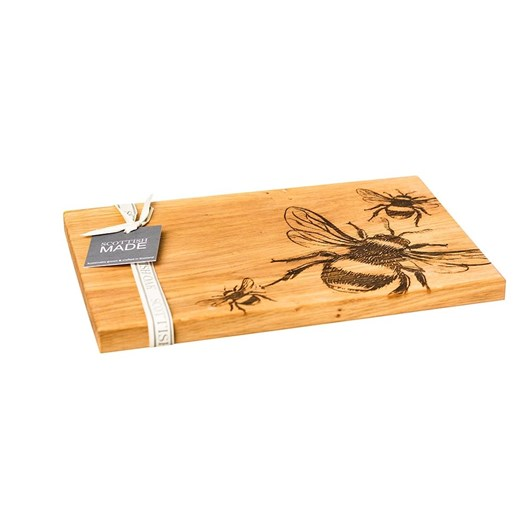 Just Slate Etched Bees Oak Serving Board 30cm