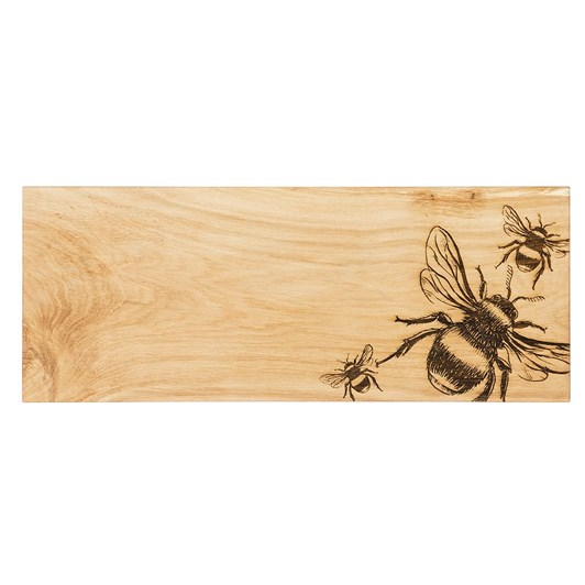Just Slate Bee Large Oak Serving Board