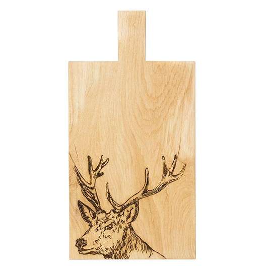 Just Slate Stag Large Oak Serving Paddle