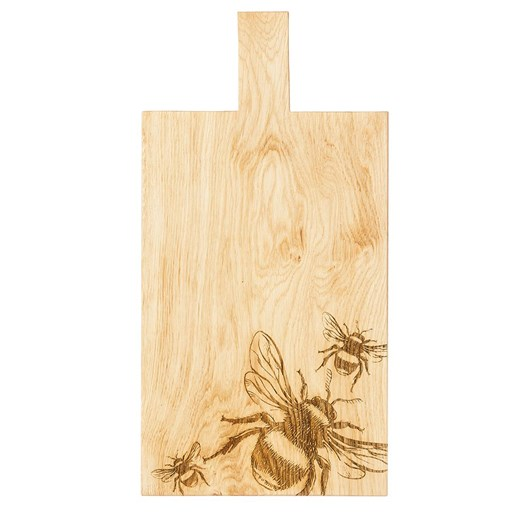 Just Slate Bee Large Oak Serving Paddle