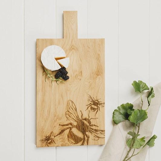 Just Slate Bee Large Oak Serving Paddle
