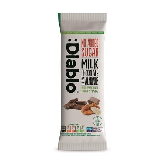 Diablo Sugar Free Stevia Milk Almond Chocolate Block 75g