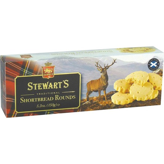 Stewarts Highland Stag Shortbread Rounds 150g