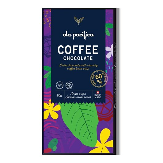 Ola Pacifica 60% Cacao With Coffee 80g