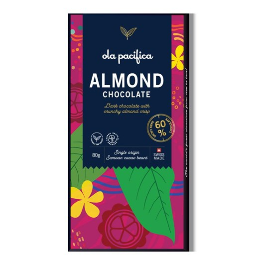 Ola Pacifica 60% Cacao With Almond 80g