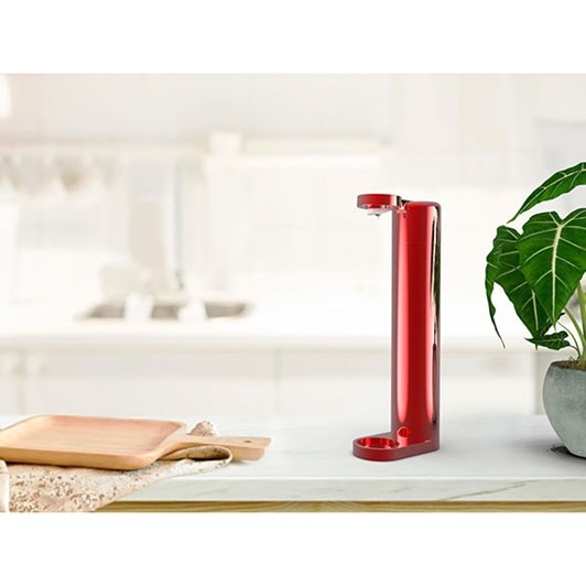 Oh Bubbles Drink Maker Metallic Red