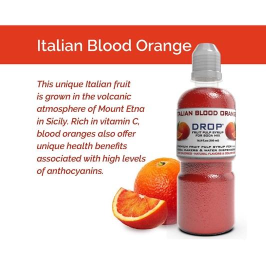 Oh Bubbles Drop Arancia Rossa Italian Blood Orange Fruit Pulp Mix 500ml