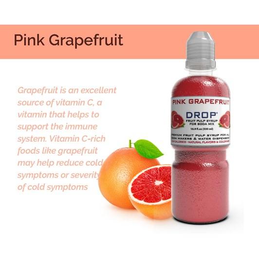 Oh Bubbles Pink Grapefruit Fruit Pulp Mix 500ml