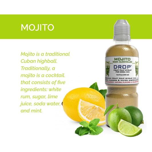 Oh Bubbles Mojito Non Alcoholic Fruit Pulp Mix 500ml