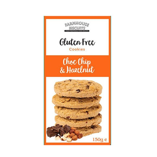 Farmhouse Gluten Free Choc Chip & Hazelnut 150g