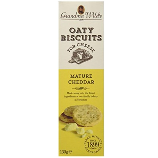 Grandma Wilds Mature Cheddar Oat Biscuits 130g