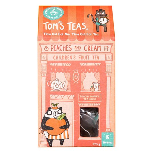 Tom's Teas  Peaches And Cream Children'S Fruit Tea 25G