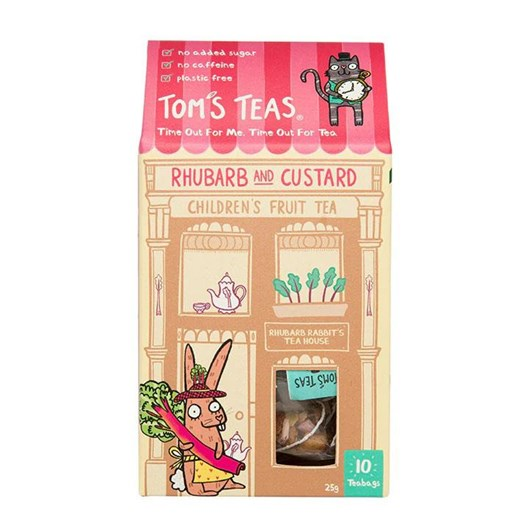 Tom's Teas  Rhubarb And Custard Children's Fruit Tea 25G