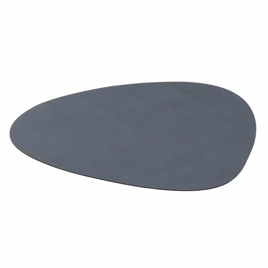 Lind Dna Table Mat Nupo Dark Blue Curve L 37X44Cm