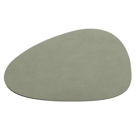 Lind Dna Table Mat Nupo Olive Green Curve L 37X44Cm