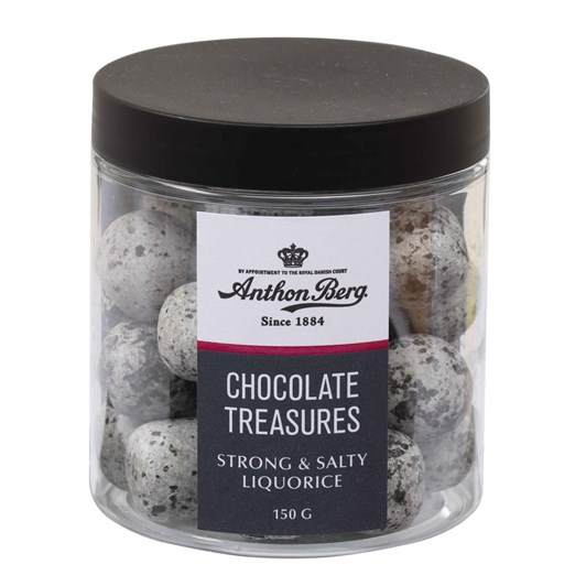 Anthon Berg Treasures Strong Salty Liquorice 150G