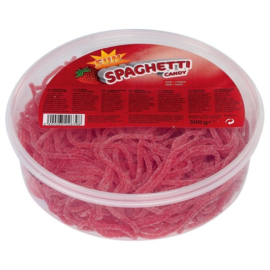 Fun Spaghetti Candy Citric Strawberry 300g