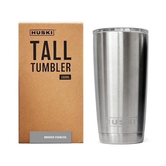 Huski Tall Tumbler - Brushed Stainless