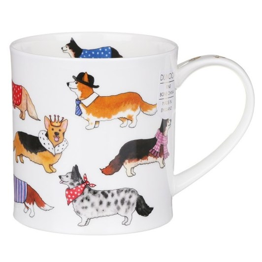 Dunoon Orkney Dashing Dog Corgi Mug