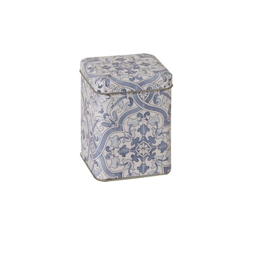 IHR Square Tea Tin Classic Apples Blue