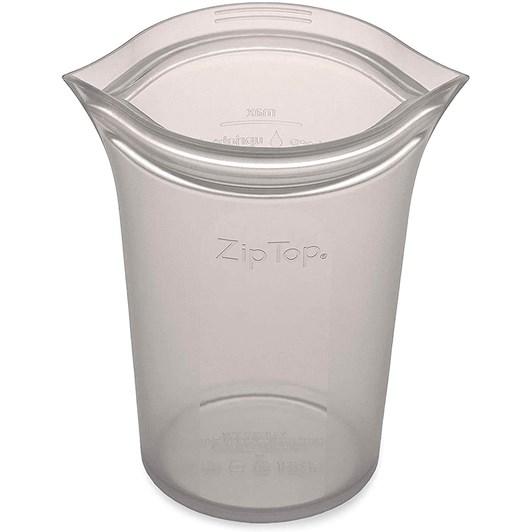 Zip Top  Cup Medium 473ml Grey