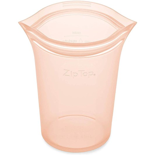 Zip Top  Cup Medium 473ml Peach