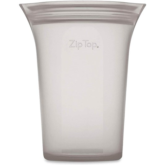 Zip Top  Cup Large 710ml Grey