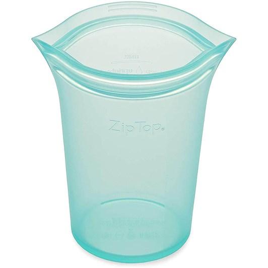 Zip Top Cup Medium 473ml Teal