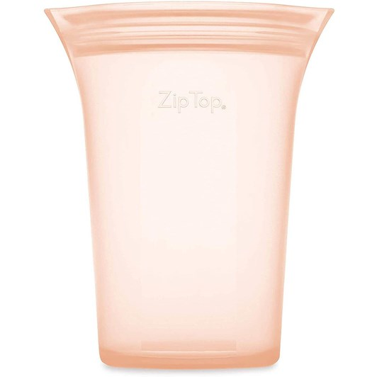 Zip Top  Cup Large 710ml Peach