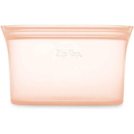 Zip Top  Dish Small 437ml Peach