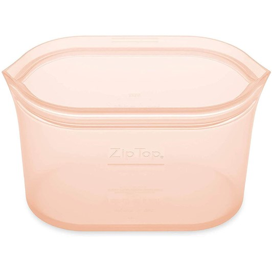Zip Top  Dish Medium 710ml Peach